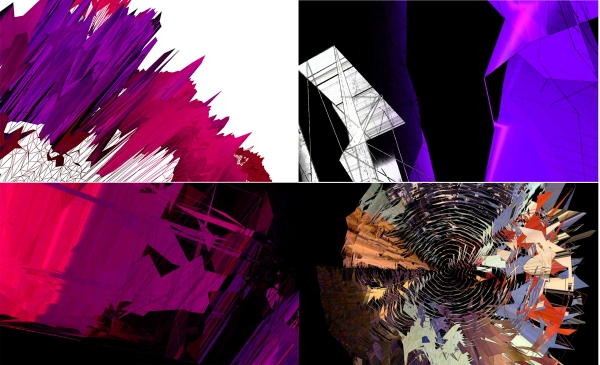 Four pieces created using Jitter